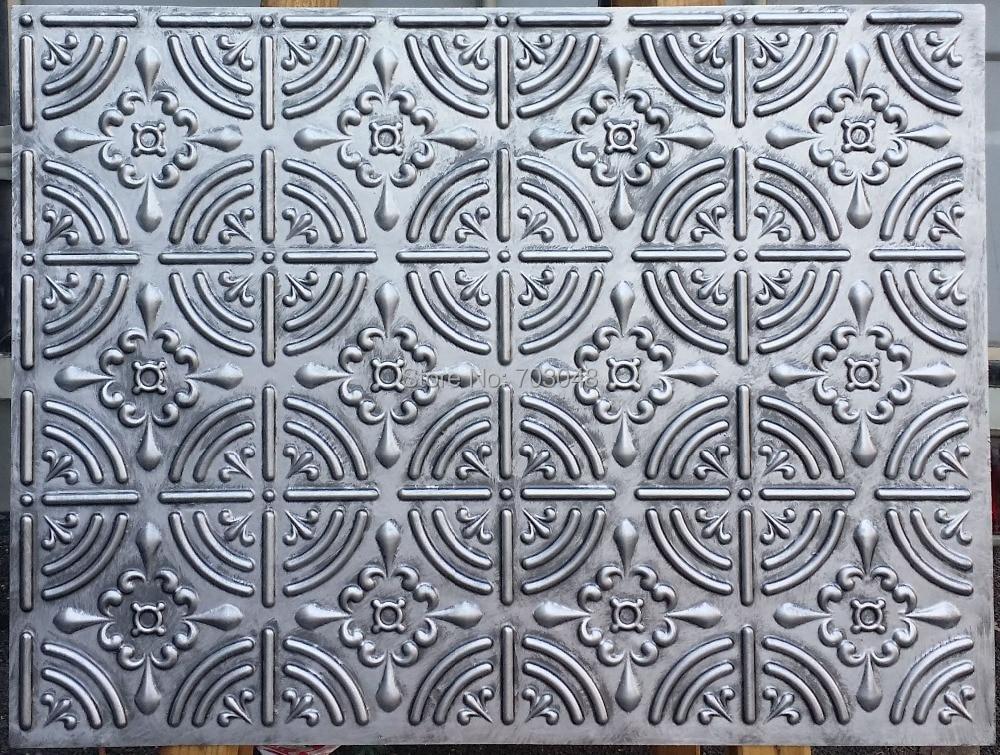 Plb18 faux teneke dekoratif tavan fayans 3d kabartmalı backsplash mağaza cafe pub antika dekor duvar panelleri.jpg