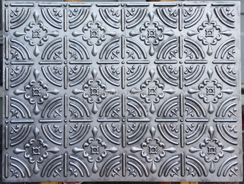 PLB18 Faux tin decorative ceiling tiles 3D embossed ...