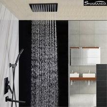 Скрытый латунный Смеситель для ванной комнаты смеситель черный