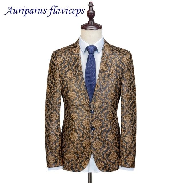2018 New Stylish Luxury 2 Suit Men Wedding Suit Floral Pattern ...