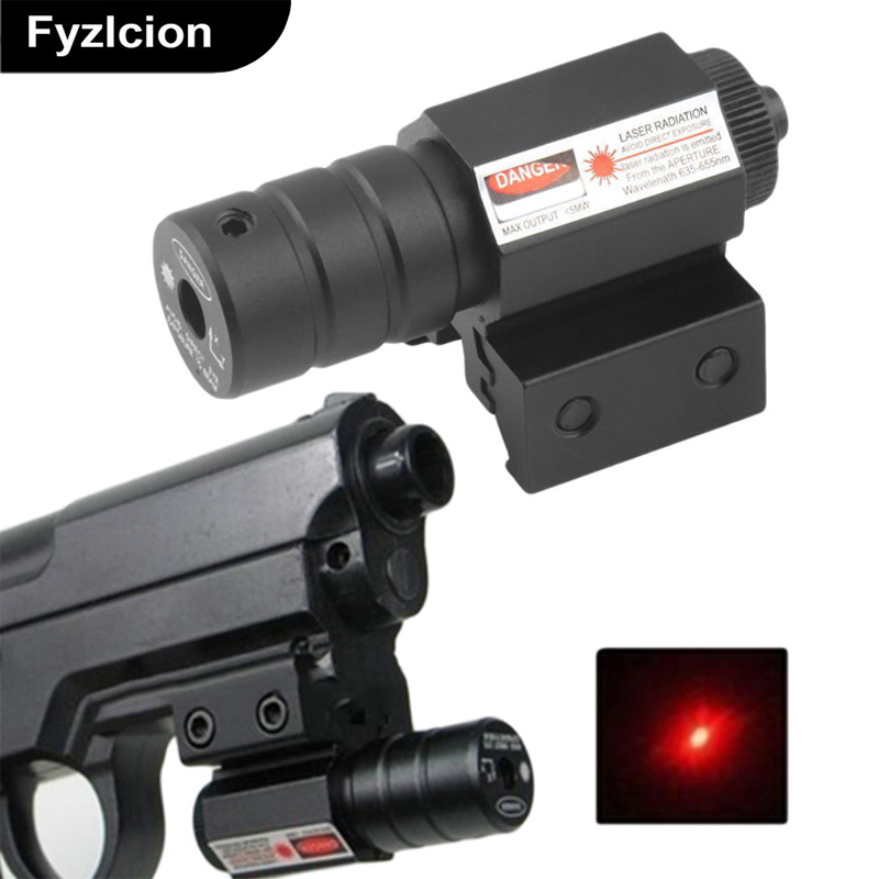 Tactical Red Laser Beam Mil-Dot Sight Scope forfor Rifle Pistol Hunting Handgun with 21mm Picatinny Mount
