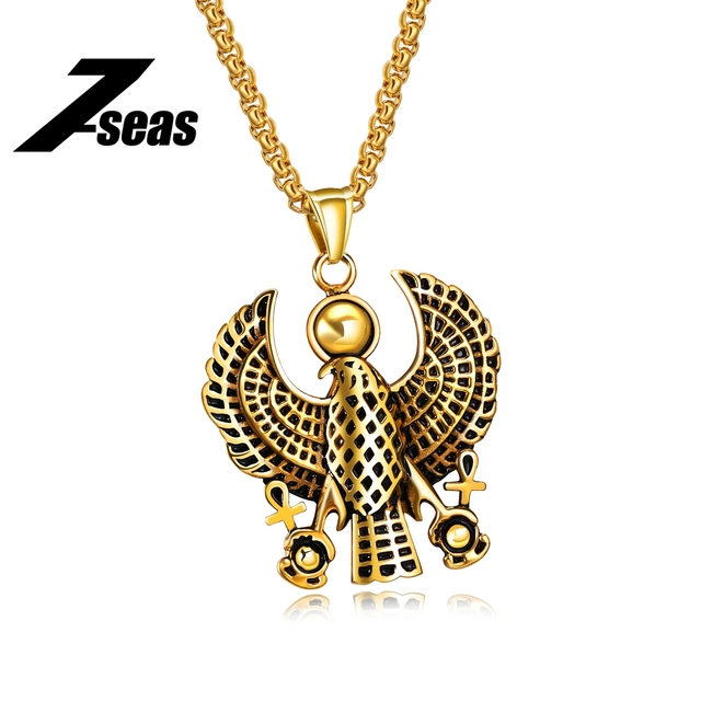 7seas Punk 316l Stainless Steel Ancient Egyptian Anka Symbol Eagle