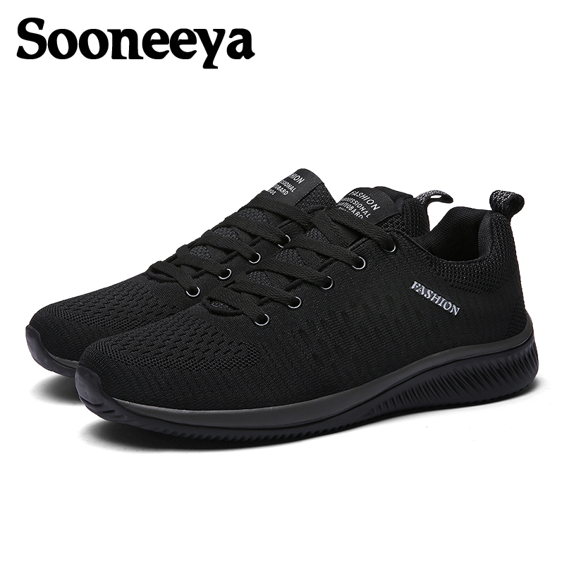 Sooneeya Size 39-45 Mens Sneakers Shoes Printed Men Sock Shoes Male Lace Up Walking Shoes Flats Mesh Casual Shoes For Man Сникеры
