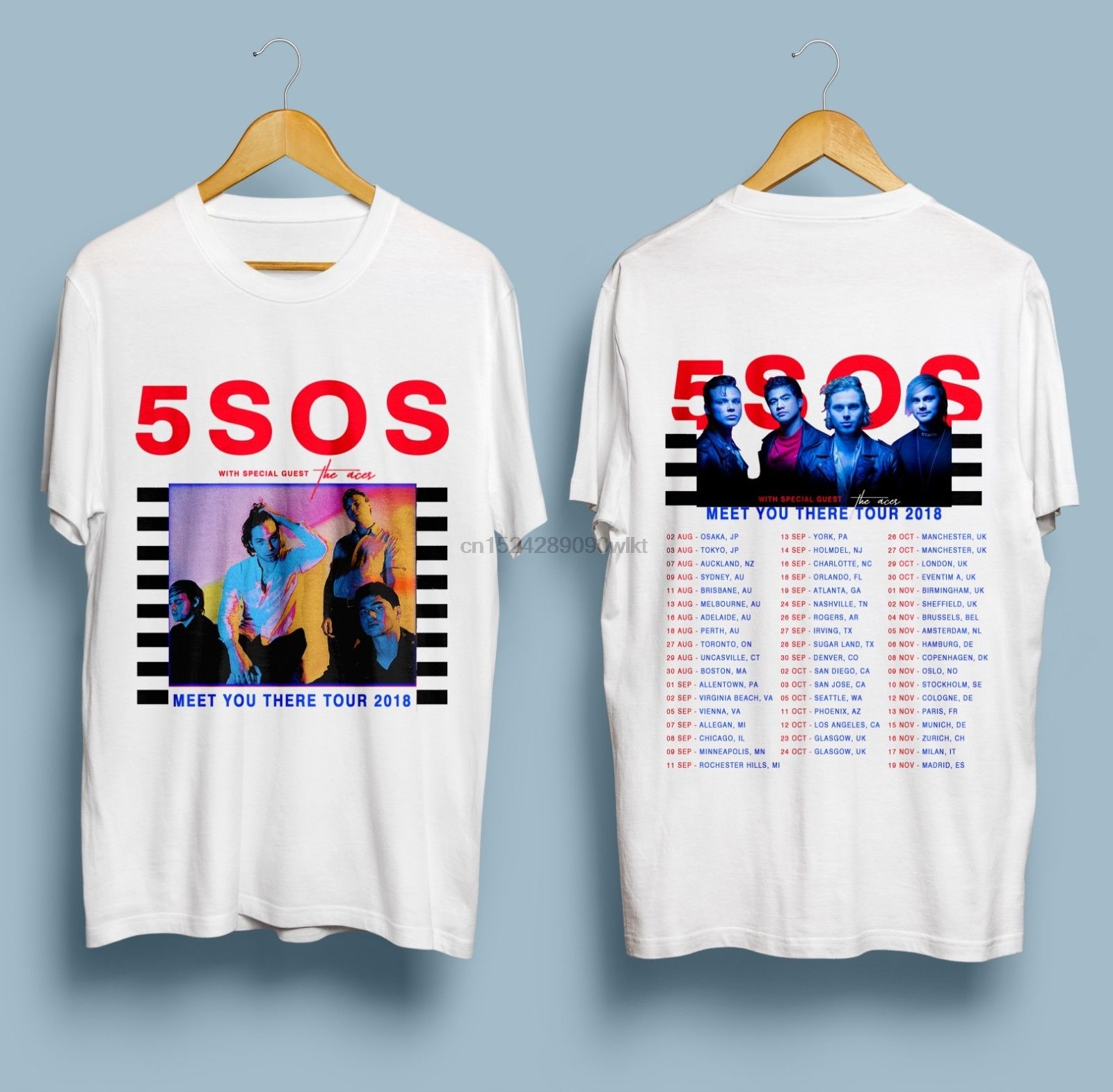 NEW LIMITED 5-Seconds Of-Summer-5SOS-Meet-You Color Black Logo T-SHIRT S-5XL