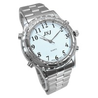 Arabic Talking Watch for Blind People or Visually Impaired People White Dial