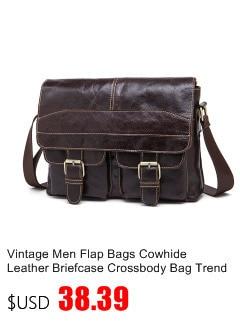 Alta qualidade homem sacos de couro genuíno