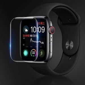 Image 2 - 2PCS 9D מלא מעוגל רך מזג זכוכית עבור Apple שעון 38 40 42 44 mm מסך מגן על אני שעון 4 5 מגן זכוכית סרט