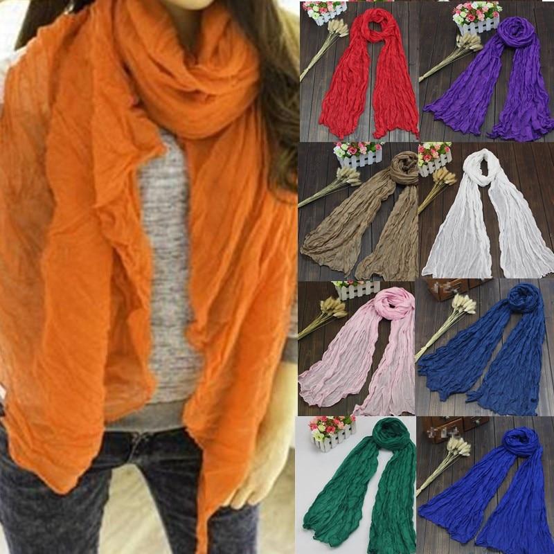 Fashion Long Voile Scarves Candy Color Ladies Soft  Winter Warm Scarf Women Scarf Shawl Foulard Femme Bufandas