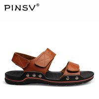 Hot Sale New Fashion Summer Leisure Beach Men Shoes High Quality Leather Sandals Slip On Yards