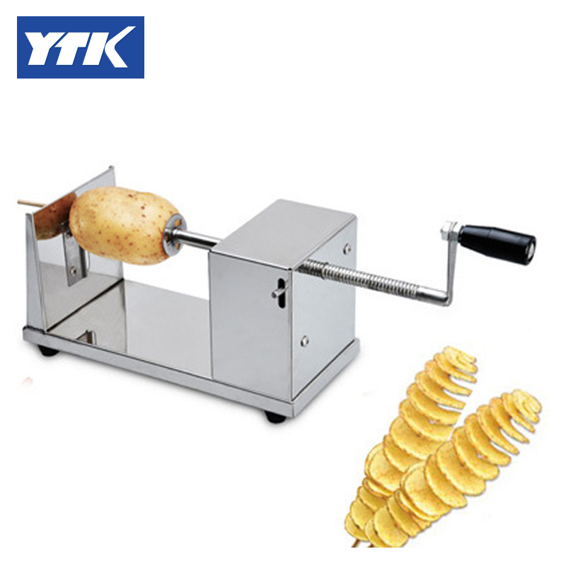 YTK Selling Stainless Steel Potato Twist Cutter Spiral Potato Chips Slicer Cutter grind stainless steel tree cookie cutter