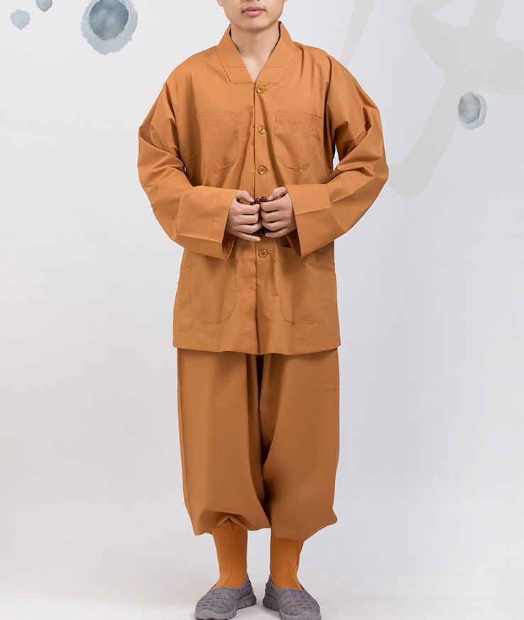 spring summer gray yellow Buddhist shaolin Monks uniforms martial arts suits lay meditation clothing zen outfits