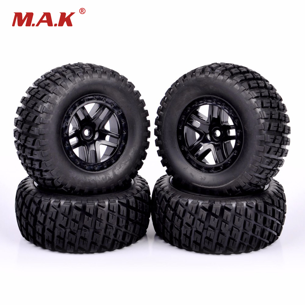 1/10 Scale Short Course Truck Tires And Wheel Rim 902 29001+29504 For TRAXXAS SLASH HPI RC Truck Car Model Toys Accessories 1 10 hq727 v2 traxxas slash short course truck parts number m0220 chassis