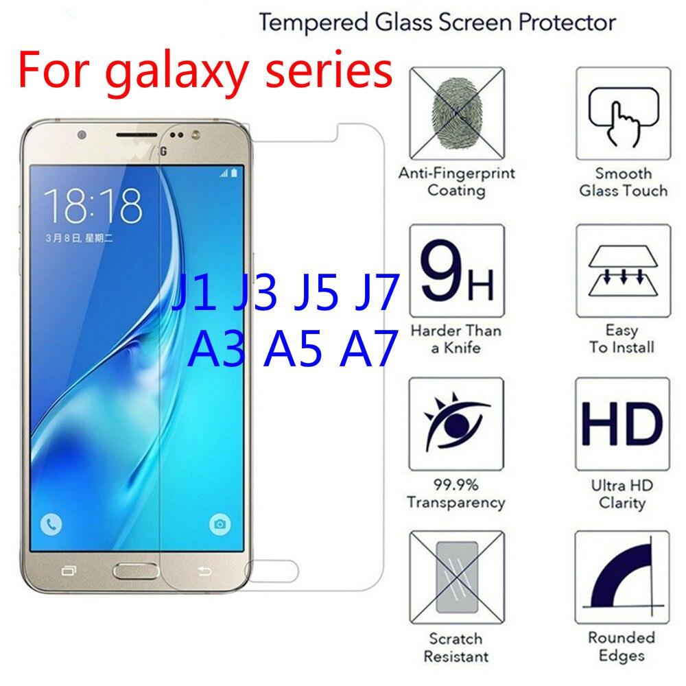 2.5D Tempered Glass For Samsung Galaxy A3 A5 A7 2016 2017 Transparent Screen Protector glass For Samsung J1 J120 J3 J5 J7 Film