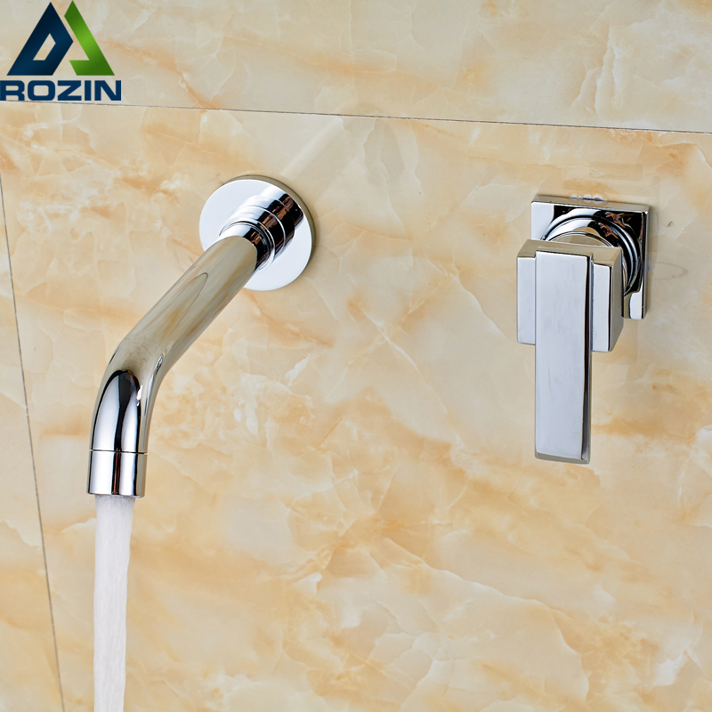 Free Shipping Wall Mounted Plate Waterfall Spout Basin Vessel Sink Faucet Single Handle Bathroom Chrome Basin Mixer Tap
