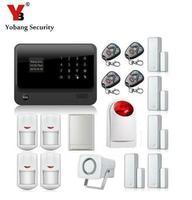 Yobang безопасности 2,4G WiFi GPRS GSM сигнализация! Английский Русский Испанский Французский Голос беспроводной GSM сигнализация с ЖК клавиатурой wifi