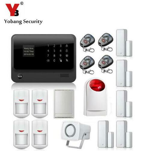 Yobang Security 2.4G WiFi GPRS GSM Alarm !English Russian Spanish French Voice Wireless GSM Alarm with LCD Keyboard wifi alarm