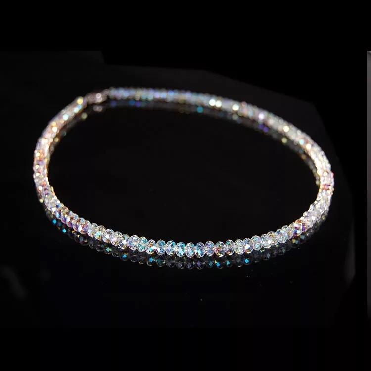 b399be98ad89 Día de san valentín joyería de moda Austria Cristal Collar femenino  clavícula clavicular de transferencia de cuentas de collar de perlas en ...