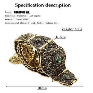Image 5 - SUNSPICE MS antigo ouro cor metal cinto de cintura para mulher caftan cintura marrocos casamento jóias do corpo comprimento ajustável corrente