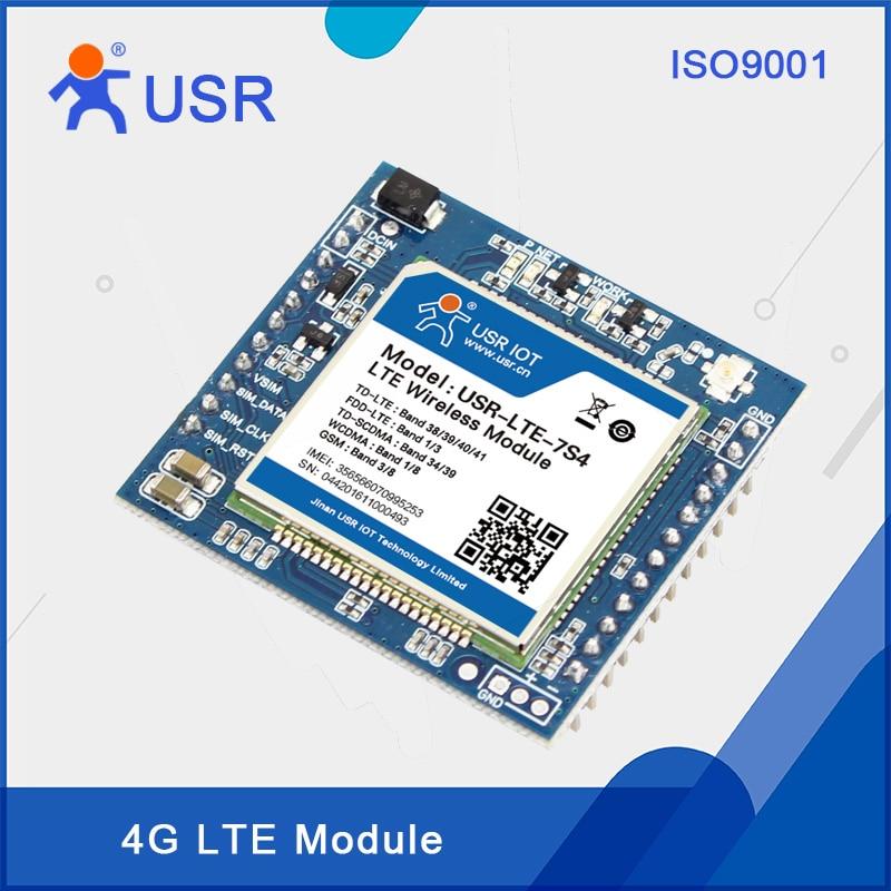 USR-LTE-7S4 LTE 4G Module Support TDD-LTE, FDD-LTE, WCDMA, TD-SCDMA, GSM/GPRS/EDGE Network 4pcs lot free shipping sim5360e 3g wcdma gsm gprs edge gps module 100