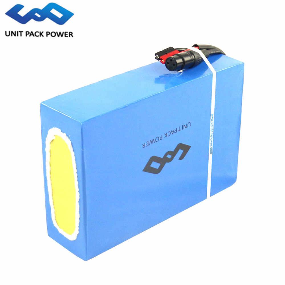 UPP Elektrische Fiets Batterij met 5A Charger 50A BMS 48 V 25Ah Lithium Batterij 48 V voor 1800 W E Scooter Ebike