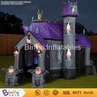 Надувные Хэллоуин дом с привидениями с Светодиодное освещение Монстр 4 м для Halloween Party украшения Бинго inflatablesbg a1144 игрушка