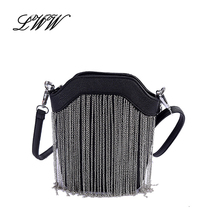 Chain Girl Bucket Bags Handbags Women Famous Brands Fashion Tassel Small Women Shoulder Bags Designer Handbags High Quality