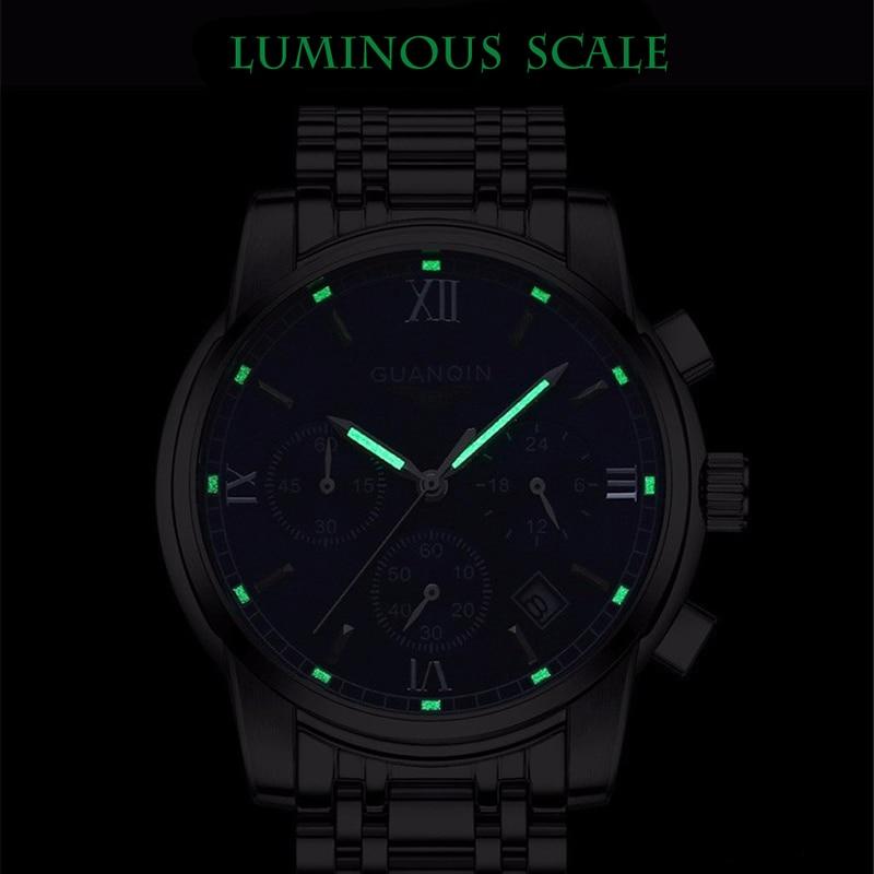GUANQIN Relogio Masculino Męskie zegarki Top Marka Luksusowe Zegarek - Męskie zegarki - Zdjęcie 3