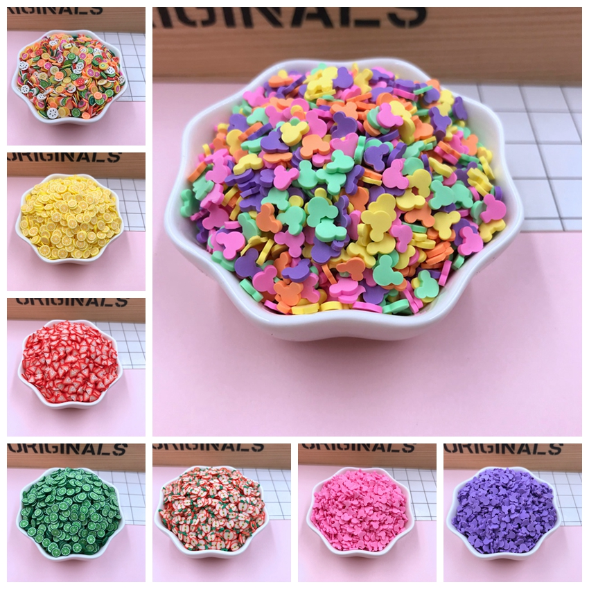 LYDOSIC 50g/lot Mouse Shape Clay Colorful Sprinkles