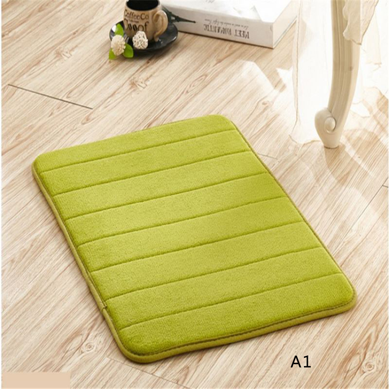 thicker coral velvet floor carpet anti slip kitchen carpets absorbent bathroom rugs living room doormats t20 - Bathroom Carpet