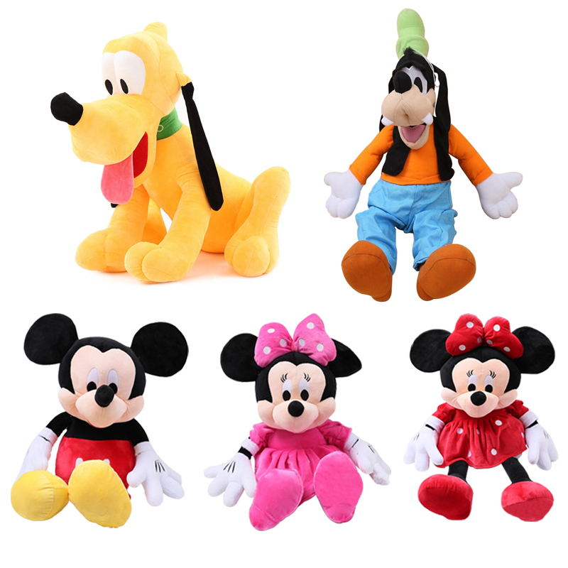 30cm 5 Styles Cute Mickey Mouse Minnie Plush Toys Goofy Dog Pluto Dog Kawaii Stuffed Toys Cartoon Kids Children birthday Gift 30cm plush toy stuffed toy high quality goofy dog goofy toy lovey cute doll gift for children free shipping page 1