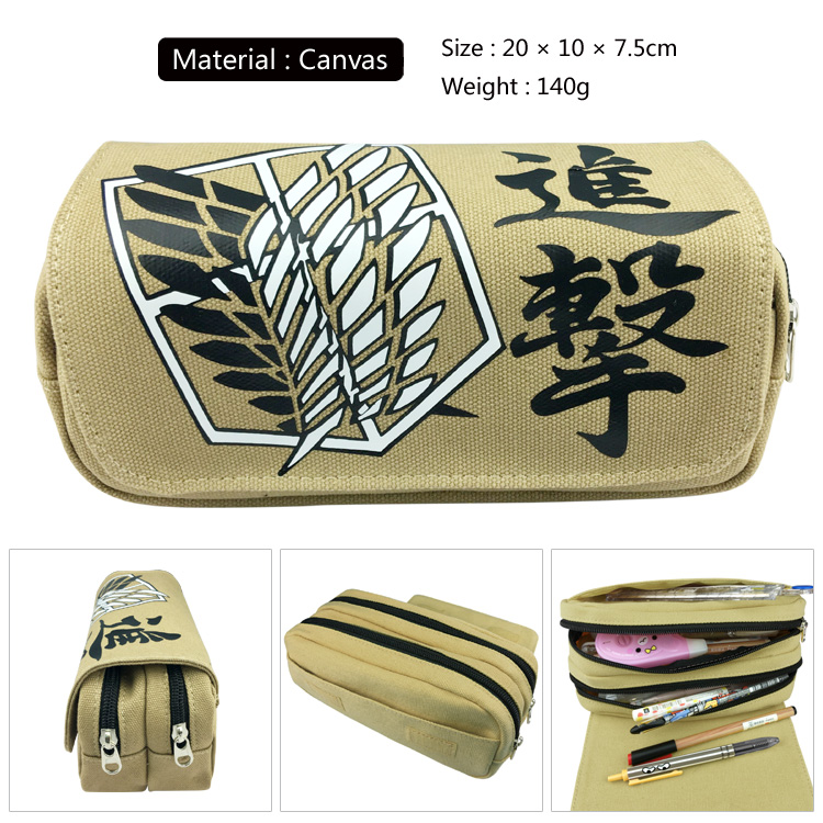 Attack on Titan Uzumaki Naruto Boys Girls Cartoon Canvas Pencil Case Bag School Pouches Children Pen Bag Kids Purse Wallet teenage mutant ninja turtles tmnt boys cartoon pencil case bag school pouches children student pen bag kids purse wallet