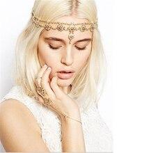 Women's Fashion Pearl Flowers Fringed Alloy Hair Band   JW370