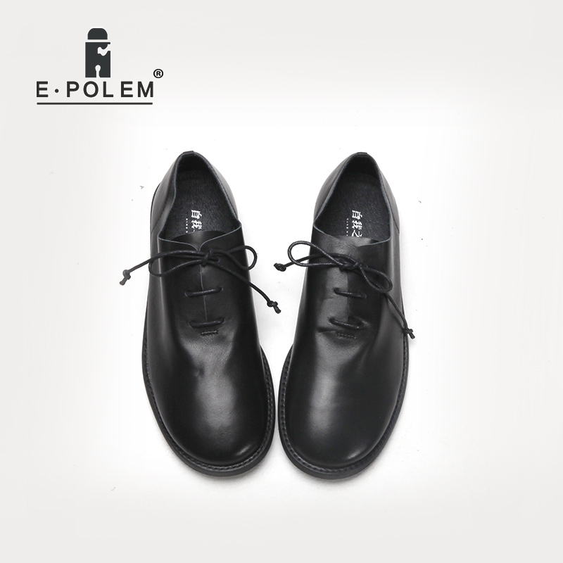 2018 New Arrival Fashion Genuine Leather Oxford Shoes For Men Spring Autumn Lace-Up Flat Shoes Black Low E Male Leather Shoes ege brand handmade genuine leather spring shoes lace up breathable men casual shoes new fashion designer red flat male shoes