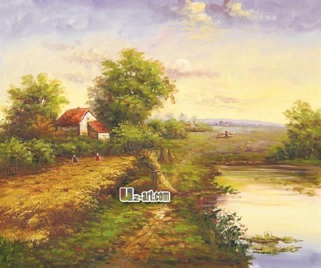 Canvas Prints Wholesale decoration modern wall art picture Village ...