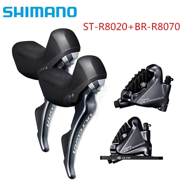 Shimano Ultegra ST R8020 Trigger Shifter + BR R8070 STI + Hydraulic Disc Brakes Flat Mount 2x11 speed