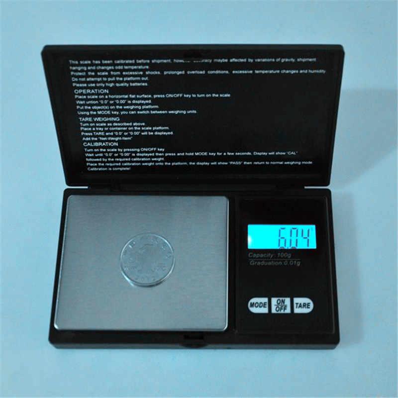 Электронные карманные весы, электронные весы с ЖК-дисплеем для ювелирных изделий, 100 г/0,01