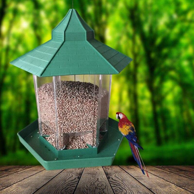 Waterproof Gazebo Hanging Bird Feeder Villa Outdoor Feeding Garden Decor NEW