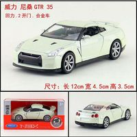 1 36 11 5cm New Welly Nissan GTR Sports Car Roadster Alloy Vehicle Model Pull Back