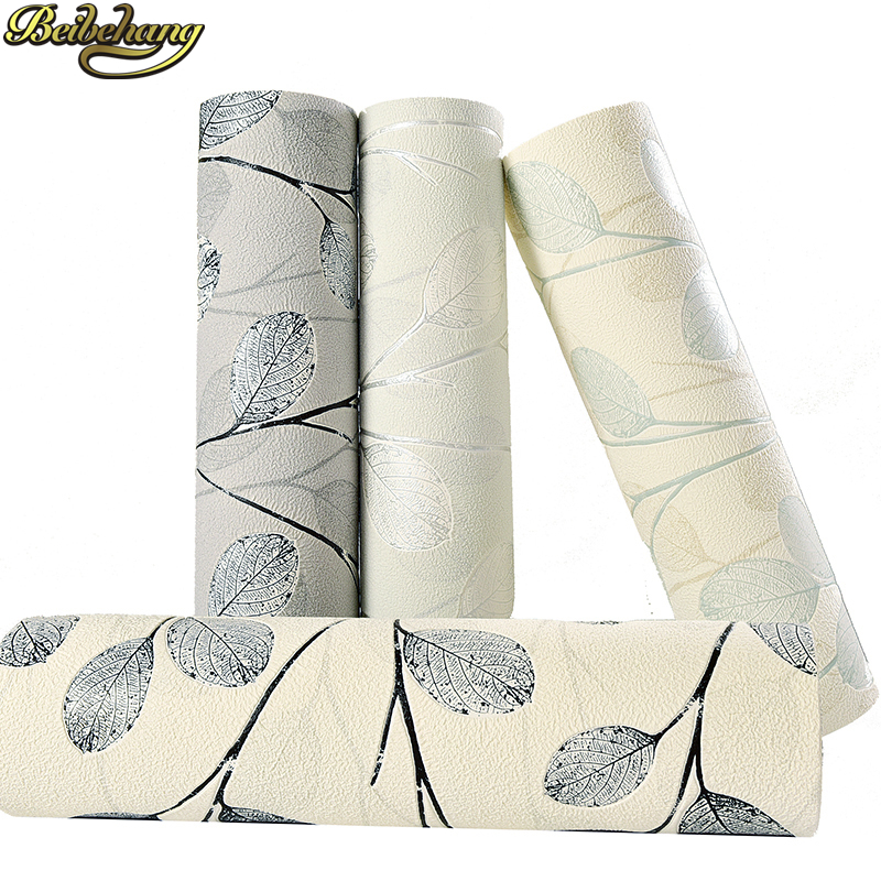 beibehang papel de parede 3D Southeast leaves wall papers home decor green Modern simple wallpaper for walls 3 d living room beibehang papel de parede 3d mediterranean pinstripe wallpaper for walls 3 d painting wall papers roll home decor living room