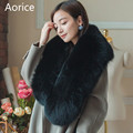 SCM069 Women winter real fox fur scarf whole piece genuine fox fur scarves wraps band new warm shawl