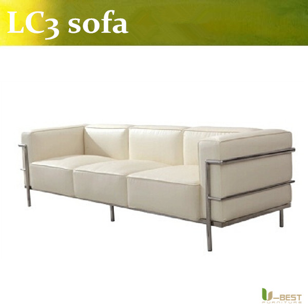 U-BEST luxury living room designer furniture Le Corbusier LC3 3 seater sofa,replacement for living room sofa 7 seater sofa set designs furniture living room luxury sofa north europe designs for small room size available