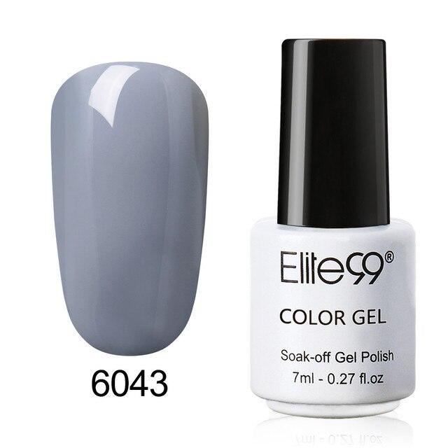 Elite99 Einen Schritt Nagellack Gel 3 in 1 UV LED Semi Permanent Lang Anhaltende Gel Polish Nail art Lack 7 ml Keine Notwendigkeit Basis Top Mantel