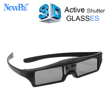 NewPal 3D active DLP link 3D glasses/Shutter 3D glass for cinema/ 3d Support DLP Projector 96-144Hz Side by Side