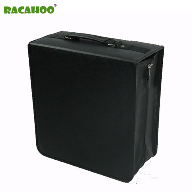 RACAHOO High Capacity Leather Business CD Box Thickening DVD Bag Carry Case Organizer Cover For Home Or Car Storage 400pcs CD диск cd every day beauty bag cd dvd 40 80