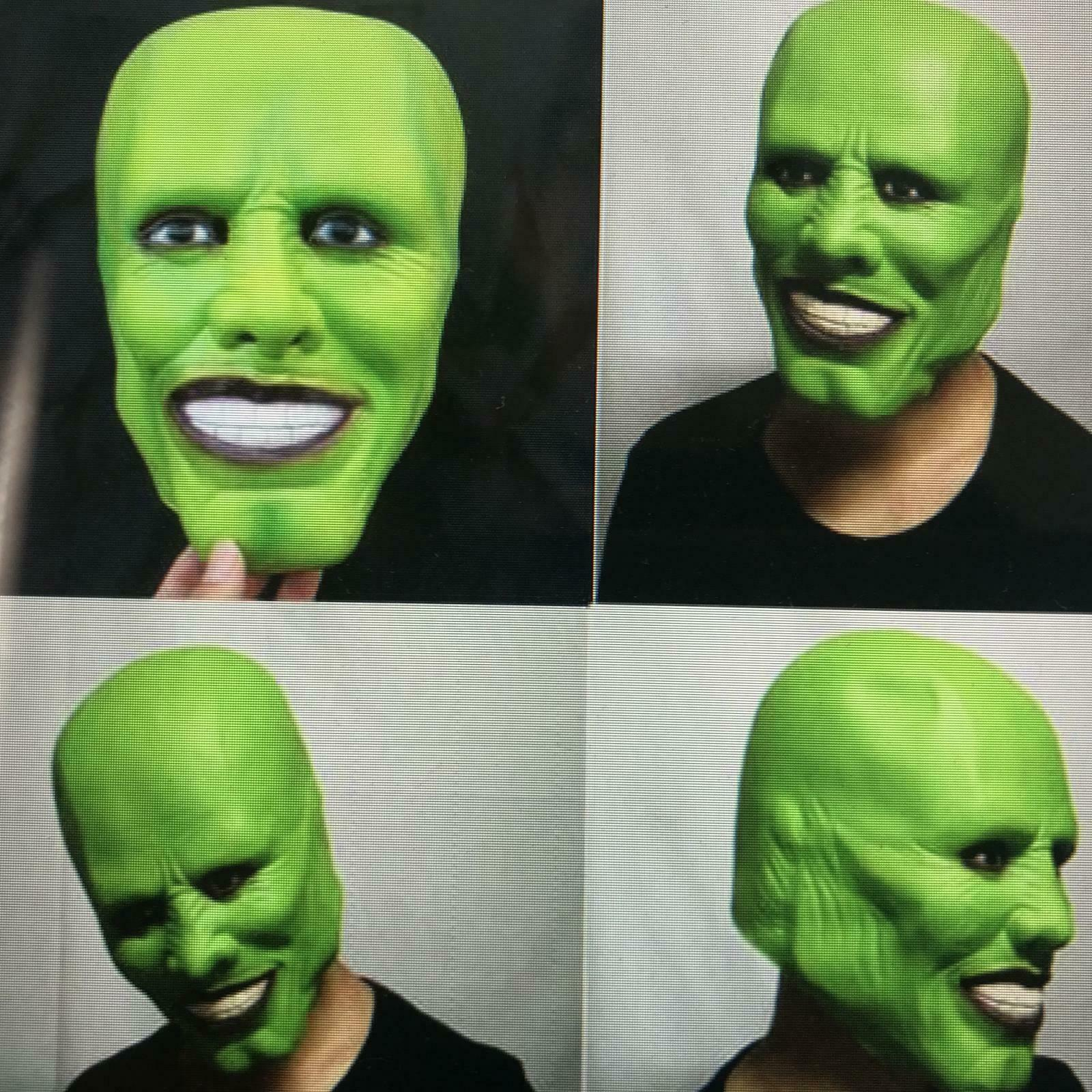 Hot New !!!!The Jim Carrey Movies Mask Cosplay Green Mask Costume Adult Fancy Dress Face Halloween Masquerade Party Cosplay Mask image