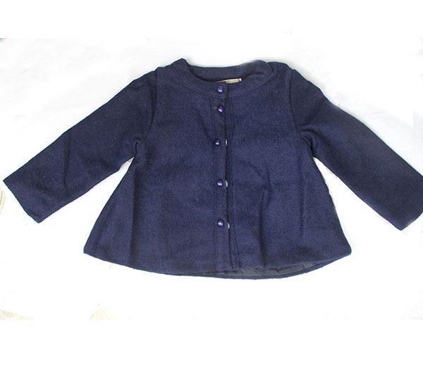 Atacado ( 5 pçs/lote ) - menina da criança botão inverno outwear jacket