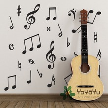Pack of 50 Music Wall Stickers - Symbols Decals for kids baby room Decoration DIY Art Poster adesivo wall mural WA-4