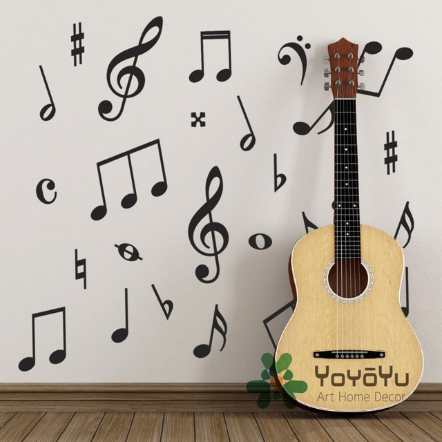 Pack Of 50 Music Wall Stickers   Music Symbols Wall Decals For Kids Baby  Room Decoration Part 71