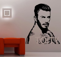 David Beckham Wandtattoo Sport Fußball Player Kunst Riesigen Aufkleber Vinyl Fototapete Graphic wandkunst Fußballer Wohnheim Wohnkultur