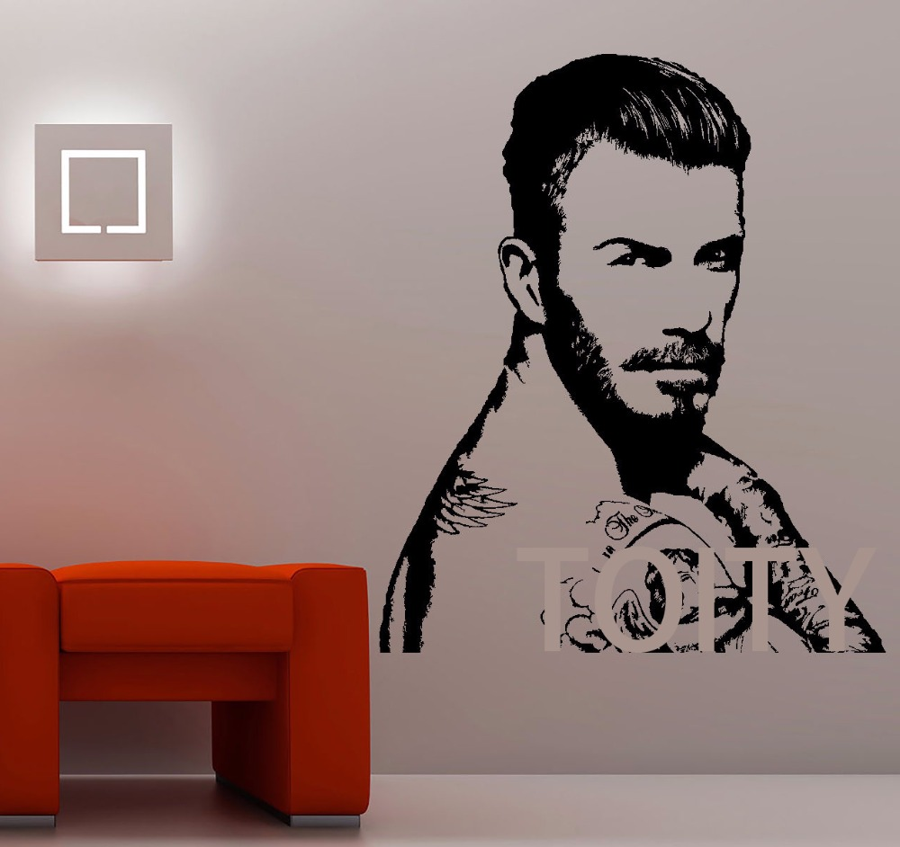 Aliexpress.com : Buy David Beckham Wall Decal Sport Football Player Art Giant  Sticker Vinyl Mural Graphic Wall Art Footballer Dorm Home Decor From  Reliable ... Part 91